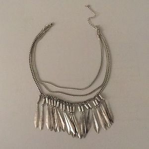Silver h&m statement necklace